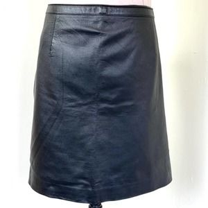 NEWPORT NEWS black leather skirt PLUS SIZE 20